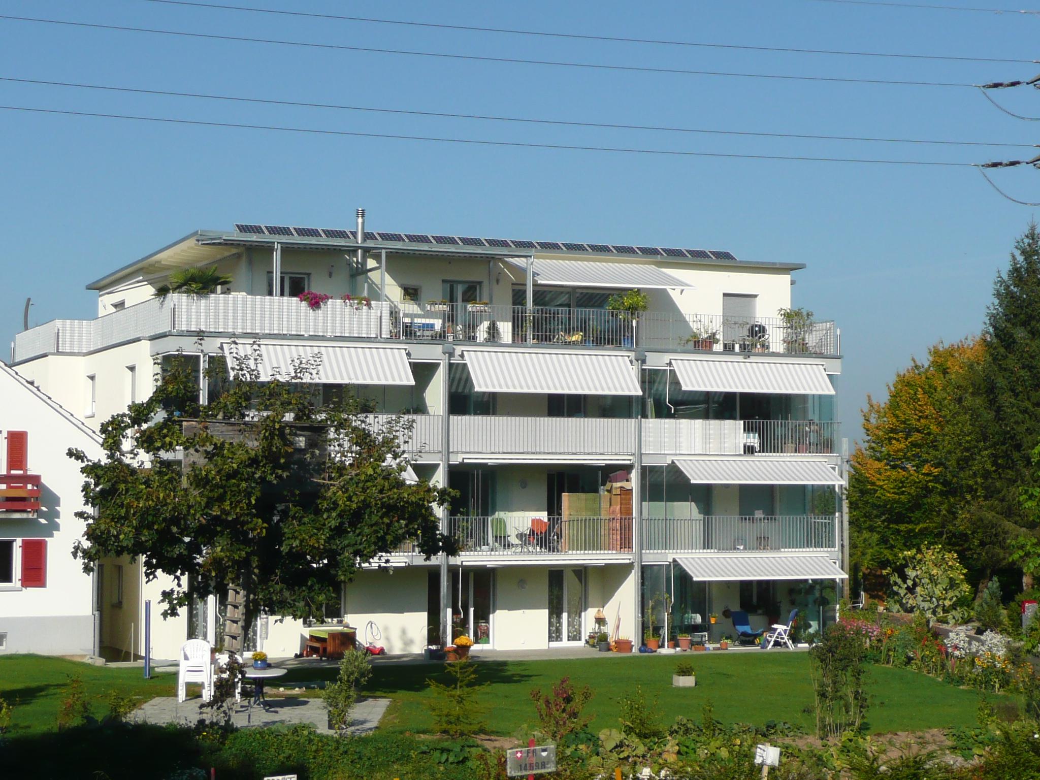 Sicht auf den Garten des Hauses